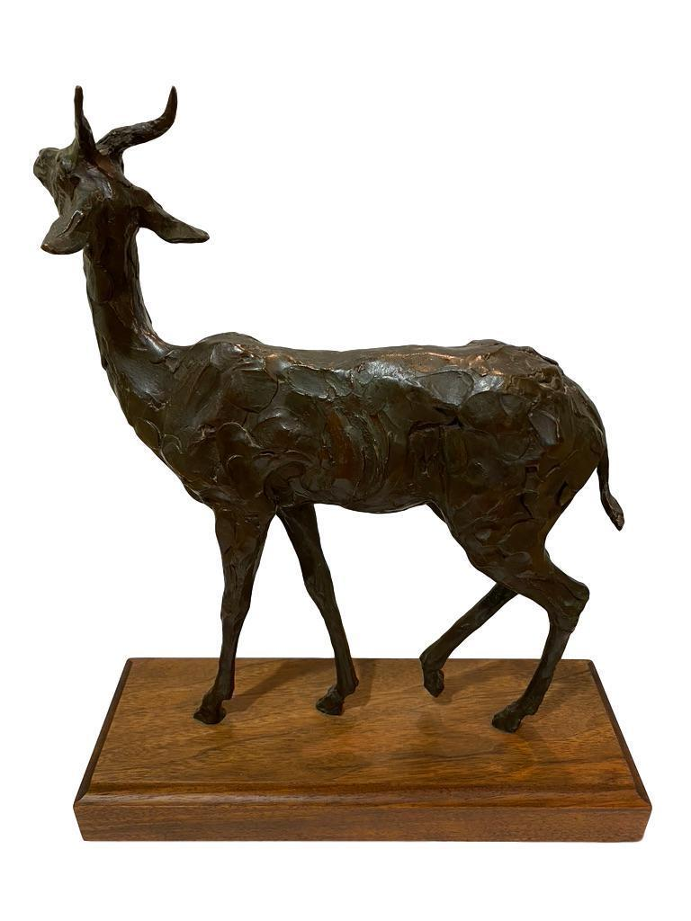 Nice sculpture by the well known Denver, Colorado artist Kenneth Bunn. This work is signed C Bunn, 5 /12. As shown. The whole work including the base measures approximate 15 x 17 x 5.