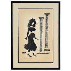 Kenny Dasch Sophisticated Lady Pencil Signed Print, 1988