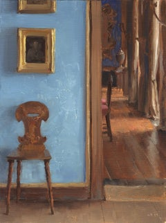 Chair with Blue wall, Bantry House