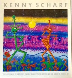 1980s Kenny Scharf exhibit poster (Kenny Scharf prints posters)