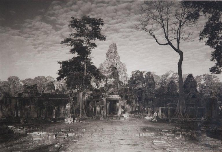 Late 20th Century Kenro Izu Platinum/Palladium Contact Print Photograph of Angkor Wat, circa 1986