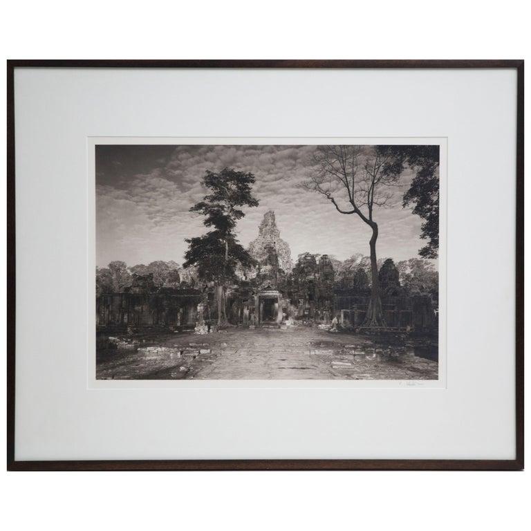 Kenro Izu Platinum/Palladium Contact Print Photograph of Angkor Wat, circa 1986