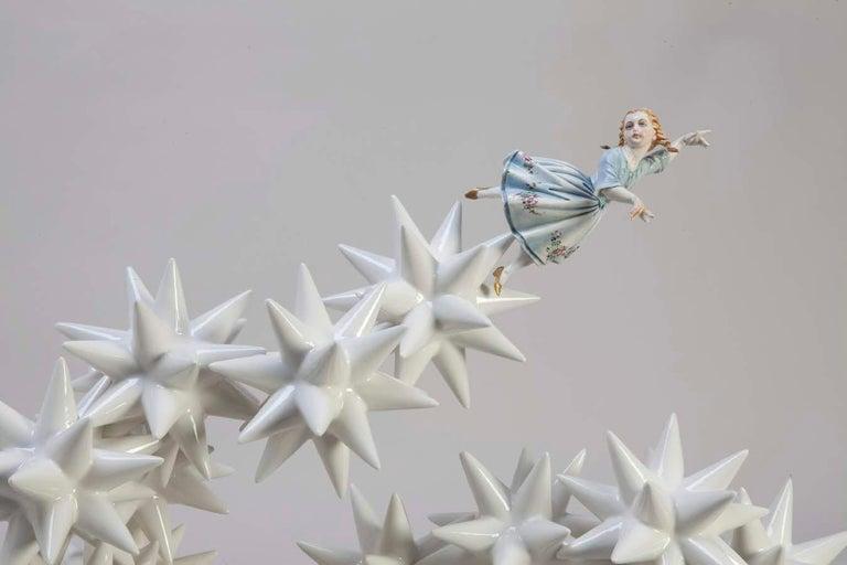 Italian Kensington Andrea Salvatori, White Ceramic Sculpture 21st Century Contemporary For Sale