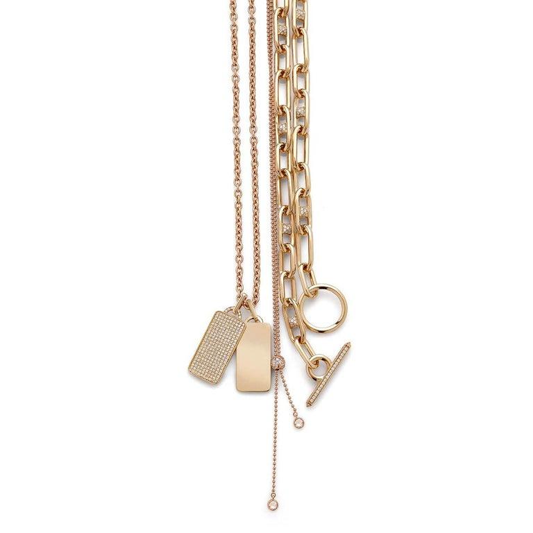 Art Nouveau Kensington Bracelet Diamonds / Rose Gold For Sale