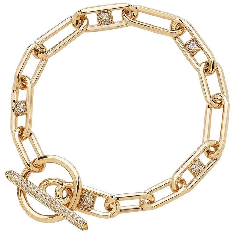 Kensington Bracelet Diamonds / Rose Gold For Sale