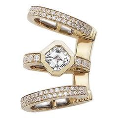 Kensington Earcuff Asscher Diamond / Rose Gold