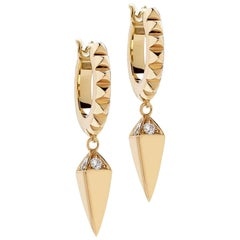 Kensington Piramide Earrings Diamonds / Rose Gold
