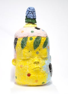 """""""Large Head Number 2"""", Contemporary, Ceramic, Sculpture, Abstract, Figurative"""