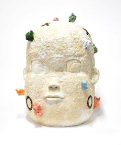 """""""Large Head Number 7"""", Contemporary, Ceramic, Sculpture, Abstract, Figurative"""