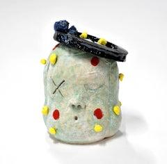 """""""Small Head 06"""", Contemporary, Ceramic, Sculpture, Colorful Glaze, Stoneware"""