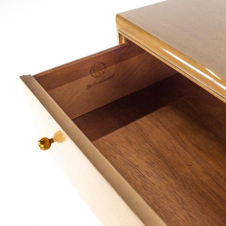 Kent Coffey Continental Mid Century 5 Drawer Highboy Dresser For Sale 4