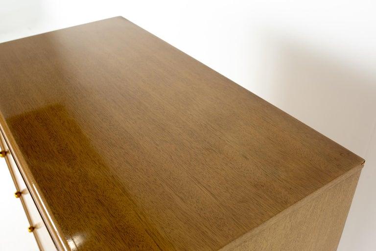 Mid-20th Century Kent Coffey Continental Mid Century 5 Drawer Highboy Dresser For Sale