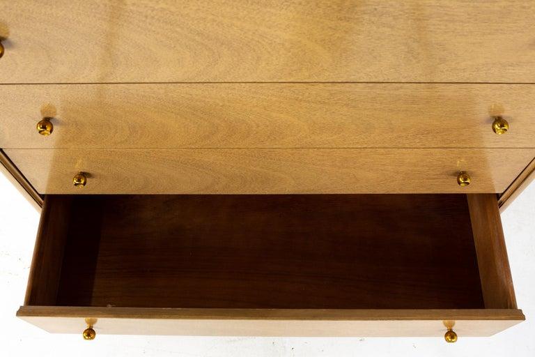 Kent Coffey Continental Mid Century 5 Drawer Highboy Dresser For Sale 2