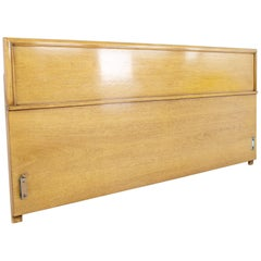 Kent Coffey Continental Mid Century Walnut King Headboard