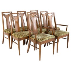Kent Coffey Perspecta Mid Century Dining Chairs, Set of 8