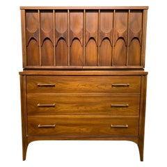 Kent Coffey Perspecta Mid-Century Modern Highboy Dresser