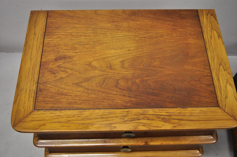 20th Century Kent Coffey The Appointment Midcentury Sculpted Walnut Nightstands, a Pair