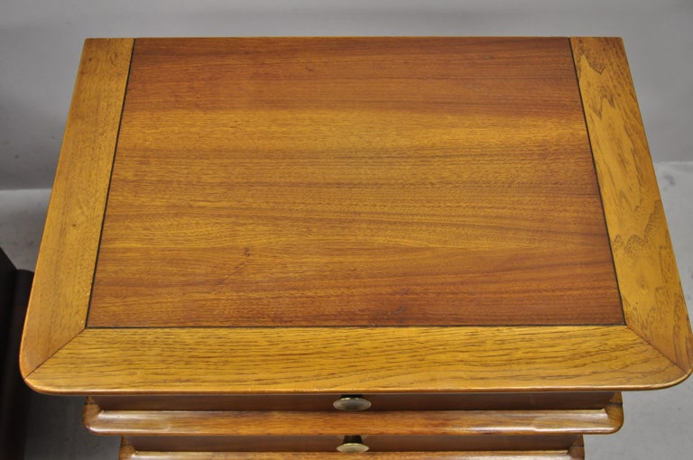 Kent Coffey The Appointment Midcentury Sculpted Walnut Nightstands, a Pair 2
