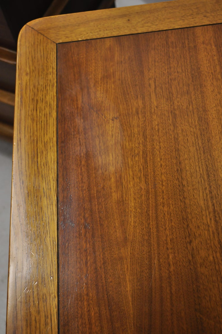 Kent Coffey The Appointment Midcentury Sculpted Walnut Nightstands, a Pair 3