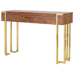 Kent Console with Polished Brass
