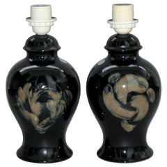 Kent Ericsson and Carl-Harry Stalhane Rare Pair of Ceramic Table Lamps