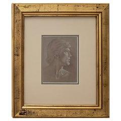 Kent Goodliffe 'Utah, 20th Century' Male Portrait in Profile Original Drawing