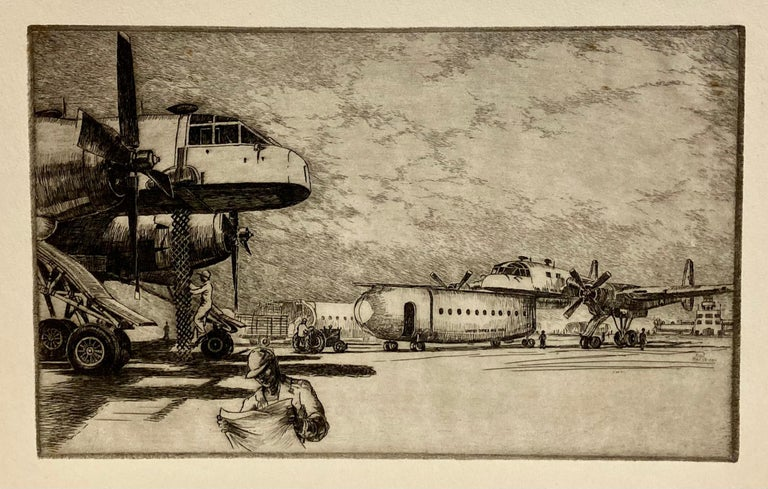 Kent Hagerman Figurative Print - (United States Air Force, Fairchild XC-120 Packplane)