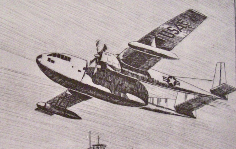 (US Air Force Fairchild C-119, the 'Flying Boxcar' - Print by Kent Hagerman
