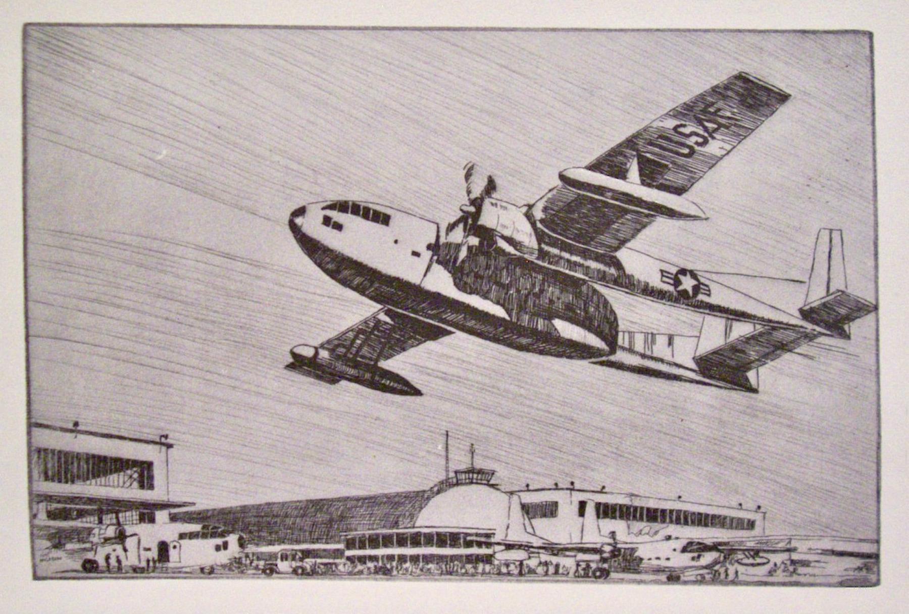 (US Air Force Fairchild C-119, the 'Flying Boxcar'