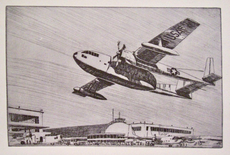 Kent Hagerman Figurative Print - (US Air Force Fairchild C-119, the 'Flying Boxcar'