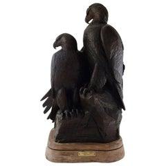"Kent Ullberg, Swedish-American Sculptor, ""Eagles Point"", Monumental Sculpture"