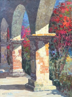 Untitled, Brick Pillars and Lush Garden