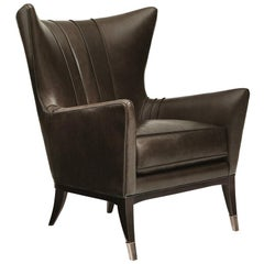 Kenton Armchair with Brown Genuine Leather