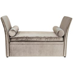 Kentucky Sofa with Grey or Pink or Green Soft Velvet Fabric