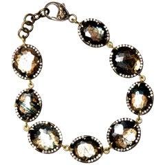 Kenyan Sapphire and Diamond Bracelet