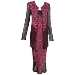 Kenzo 2pc Intarsia Metallic Knit Tank Dress & Sweater