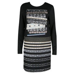 Kenzo Black Eye Capsule Collection Third Eye Jacquard Shift Dress M