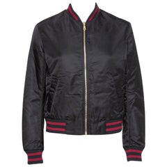 Kenzo Black Synthetic Tiger Embroidered Bomber Jacket M