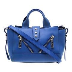 Kenzo Blue Leather Kalifornia Top Handle Bag