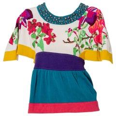 Kenzo Defilé Vintage Floral Cotton T-shirt, 1990s