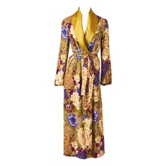 Kenzo Floral Pattern Belted Robe/Coat