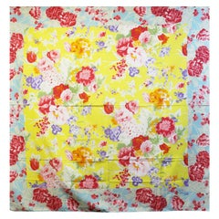 Kenzo  floral print blue,  pink and red beach  scarf