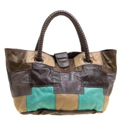 Kenzo Multicolor Leather Patch Work Hobo