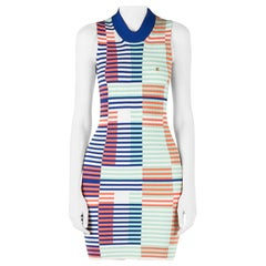 Kenzo Multicolor Rib Knit Striped Sleeveless Bodycon Dress M