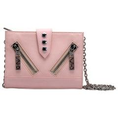 Kenzo Pink Leather Kalifornia Wallet on Chain