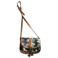 Kenzo shoulder cross leather floral print bag