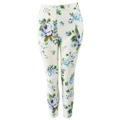 Kenzo Vintage Floral Cigarette Pants Jeans