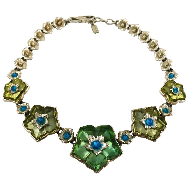 Kenzo Vintage Floral Necklace For Sale