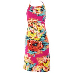 Kenzo Vintage Pink Floral Bodycon Dress