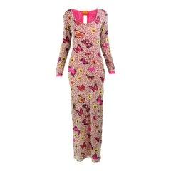 Kenzo Vintage Sheer Mesh Maxi Dress